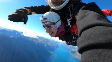 tandem skydive, Uusi-Seelanti.