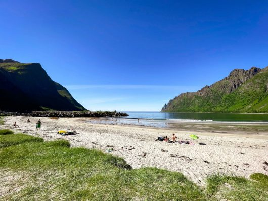 Ersfjordin ranta, Senja.