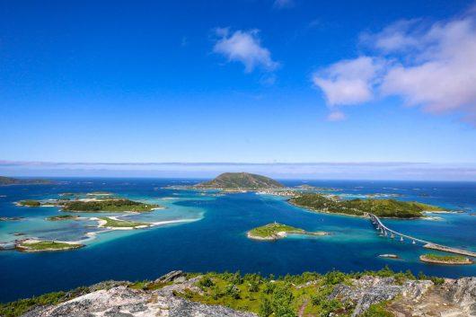 Näkymä kohti Sommarøyn saarta.