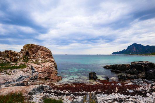 Andoyan saaren kaunista rannikkoa.