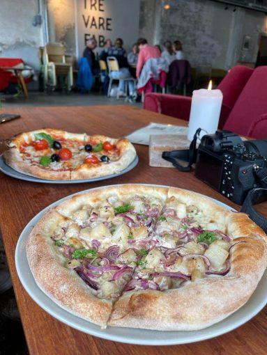Trevarefabrikken-ravintolan pizzat.